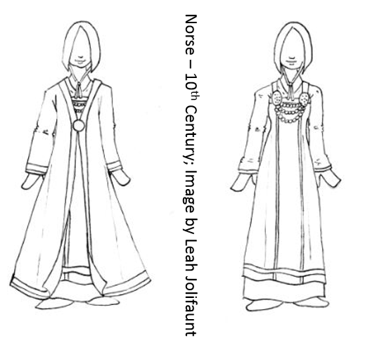 10th Century Norse Costume Sketch