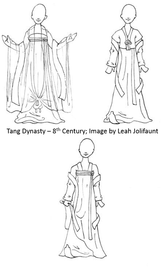 8th Century Tang Costume Sketch